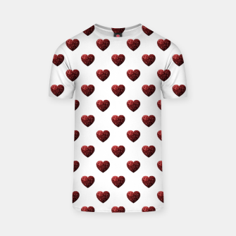 Thumbnail image of Sparkly Hearts Valentines Day pattern T-shirt, Live Heroes