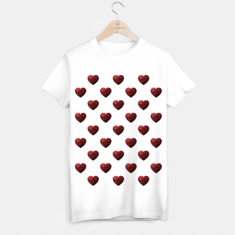 Thumbnail image of Sparkly Hearts Valentines Day pattern T-shirt regular, Live Heroes