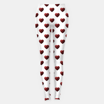 Thumbnail image of Sparkly Hearts Valentines Day pattern Leggings, Live Heroes