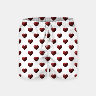 Thumbnail image of Sparkly Hearts Valentines Day pattern Swim Shorts, Live Heroes