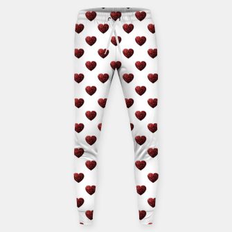 Thumbnail image of Sparkly Hearts Valentines Day pattern Sweatpants, Live Heroes