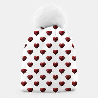 Thumbnail image of Sparkly Hearts Valentines Day pattern Beanie, Live Heroes