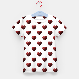 Thumbnail image of Sparkly Hearts Valentines Day pattern Kid's t-shirt, Live Heroes