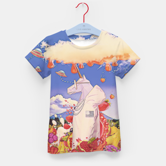 Thumbnail image of White unicorn  Kid's t-shirt, Live Heroes