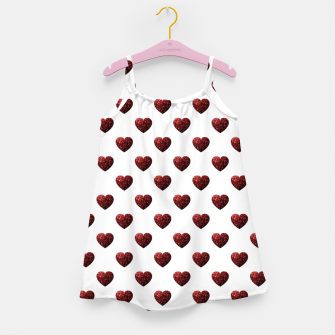 Thumbnail image of Sparkly Hearts Valentines Day pattern Girl's dress, Live Heroes