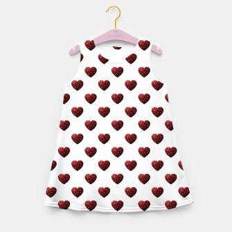 Thumbnail image of Sparkly Hearts Valentines Day pattern Girl's summer dress, Live Heroes