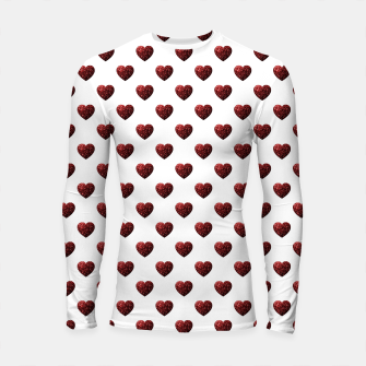 Thumbnail image of Sparkly Hearts Valentines Day pattern Longsleeve rashguard , Live Heroes