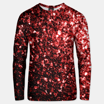 Thumbnail image of Beautiful Glamour Red Glitter sparkles Unisex sweater, Live Heroes