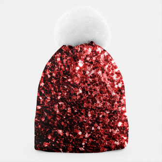 Thumbnail image of Beautiful Glamour Red Glitter sparkles Beanie, Live Heroes