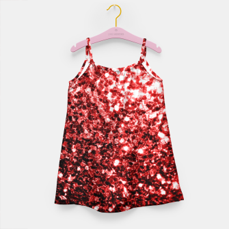 Thumbnail image of Beautiful Glamour Red Glitter sparkles Girl's dress, Live Heroes
