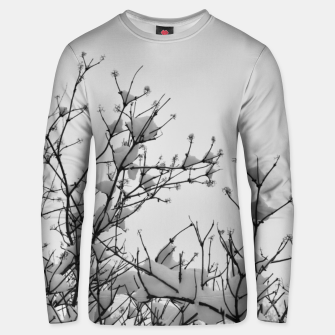 Thumbnail image of Snow on branches Unisex sweater, Live Heroes