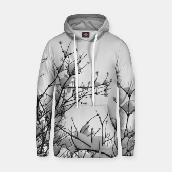 Thumbnail image of Snow on branches Hoodie, Live Heroes
