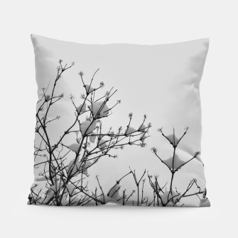 Thumbnail image of Snow on branches Pillow, Live Heroes
