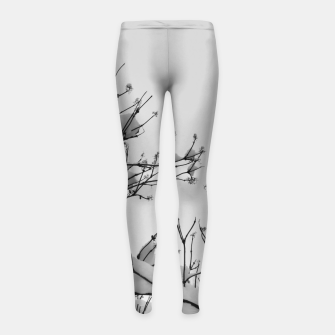 Thumbnail image of Snow on branches Girl's leggings, Live Heroes