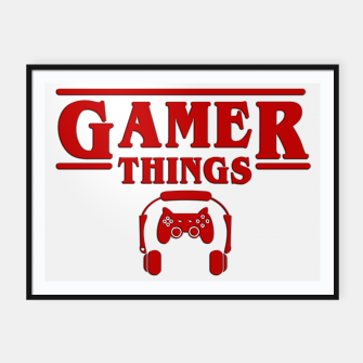 Thumbnail image of Gamer Things Framed poster, Live Heroes