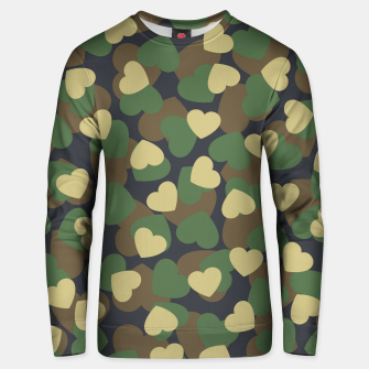 Thumbnail image of Heart Camo WOODLAND Unisex sweater, Live Heroes