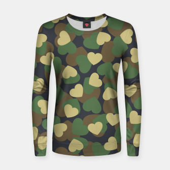 Thumbnail image of Heart Camo WOODLAND Women sweater, Live Heroes