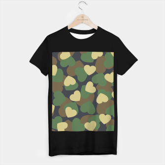 Thumbnail image of Heart Camo WOODLAND T-shirt regular, Live Heroes