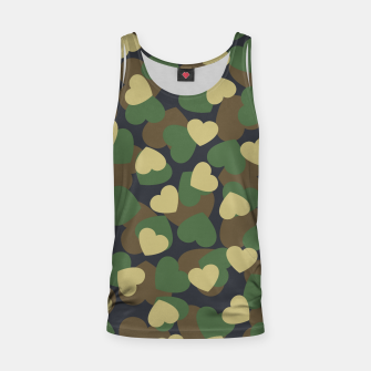 Thumbnail image of Heart Camo WOODLAND Tank Top, Live Heroes
