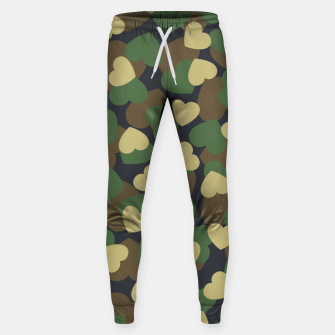 Thumbnail image of Heart Camo WOODLAND Sweatpants, Live Heroes