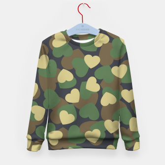 Thumbnail image of Heart Camo WOODLAND Kid's sweater, Live Heroes
