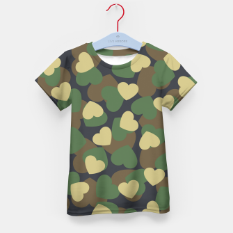 Thumbnail image of Heart Camo WOODLAND Kid's t-shirt, Live Heroes