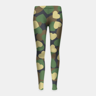 Thumbnail image of Heart Camo WOODLAND Girl's leggings, Live Heroes