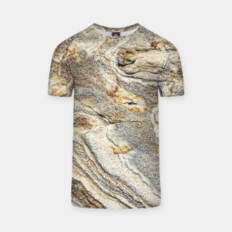 Miniatur Marble Grey Yellow Pattern T-shirt, Live Heroes