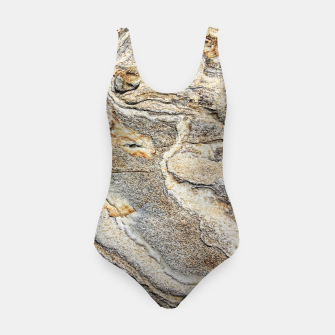 Miniatur Marble Grey Yellow Pattern Swimsuit, Live Heroes