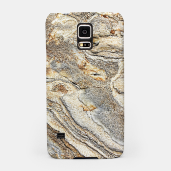 Miniatur Marble Grey Yellow Pattern Samsung Case, Live Heroes