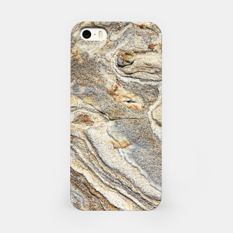 Miniatur Marble Grey Yellow Pattern iPhone Case, Live Heroes