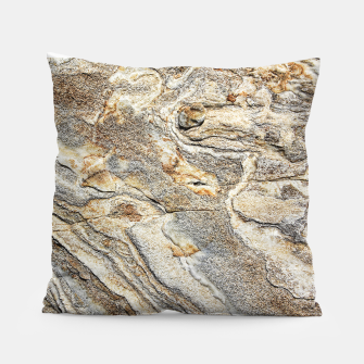 Miniatur Marble Grey Yellow Pattern Pillow, Live Heroes