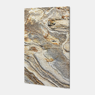 Miniatur Marble Grey Yellow Pattern Canvas, Live Heroes