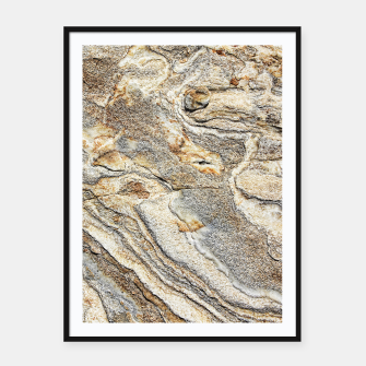 Miniatur Marble Grey Yellow Pattern Framed poster, Live Heroes