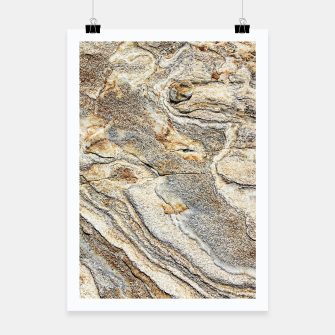 Miniatur Marble Grey Yellow Pattern Poster, Live Heroes