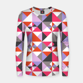 Thumbnail image of Detailed Geometric Pattern - Pink/Purple Women sweater, Live Heroes