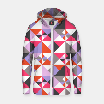 Thumbnail image of Detailed Geometric Pattern - Pink/Purple Zip up hoodie, Live Heroes