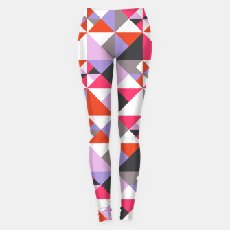 Thumbnail image of Detailed Geometric Pattern - Pink/Purple Leggings, Live Heroes