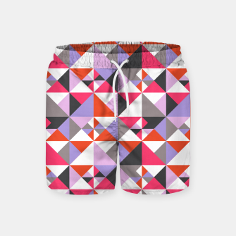 Thumbnail image of Detailed Geometric Pattern - Pink/Purple Swim Shorts, Live Heroes