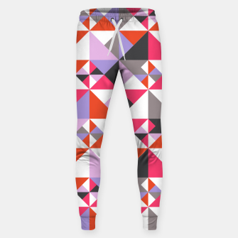 Thumbnail image of Detailed Geometric Pattern - Pink/Purple Sweatpants, Live Heroes