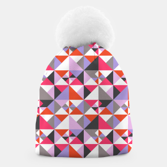 Thumbnail image of Detailed Geometric Pattern - Pink/Purple Beanie, Live Heroes