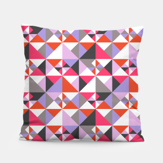 Thumbnail image of Detailed Geometric Pattern - Pink/Purple Pillow, Live Heroes