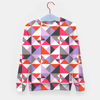 Thumbnail image of Detailed Geometric Pattern - Pink/Purple Kid's sweater, Live Heroes