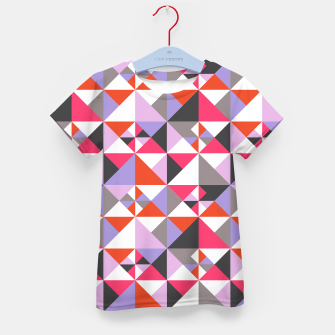 Thumbnail image of Detailed Geometric Pattern - Pink/Purple Kid's t-shirt, Live Heroes