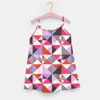 Thumbnail image of Detailed Geometric Pattern - Pink/Purple Girl's dress, Live Heroes