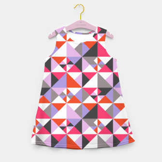 Thumbnail image of Detailed Geometric Pattern - Pink/Purple Girl's summer dress, Live Heroes