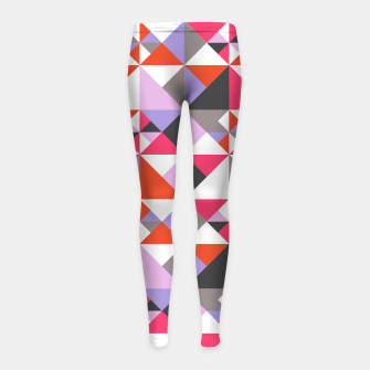 Thumbnail image of Detailed Geometric Pattern - Pink/Purple Girl's leggings, Live Heroes