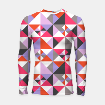 Thumbnail image of Detailed Geometric Pattern - Pink/Purple Longsleeve rashguard , Live Heroes