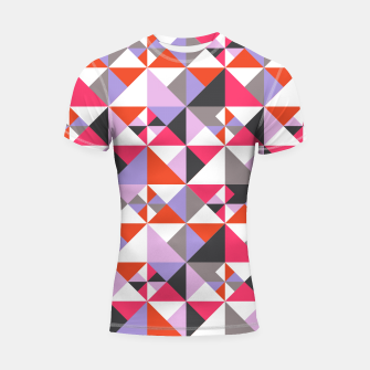 Thumbnail image of Detailed Geometric Pattern - Pink/Purple Shortsleeve rashguard, Live Heroes