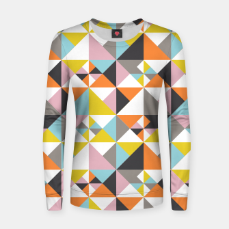 Detailed Geometric Pattern - Multicolored Women sweater thumbnail image